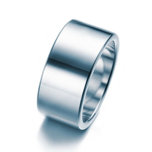 Bandring 10 mm aus 925er Sterling Silber in glanz
